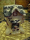 Snowman's cottage, house cookie jar