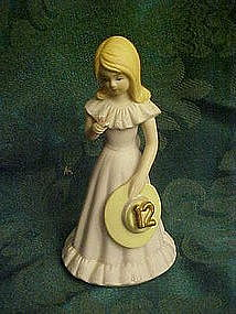 Enesco Growing up girls, birthday girl #12, blond