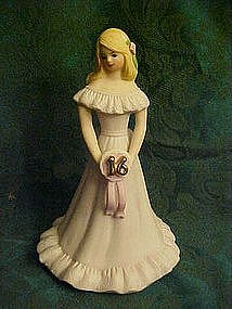 Enesco growing up girls figurine, blond  girl #16