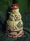 Jolly ol' Snowy cookie jar, large woodland snowman