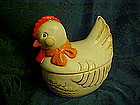 Retro 1970's country hen cookie jar. B&D Japan