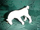 Czechoslovakia Shire horse figurine, white matte glaze
