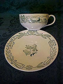 Wayne county pattern cup and saucer, by Royal china
