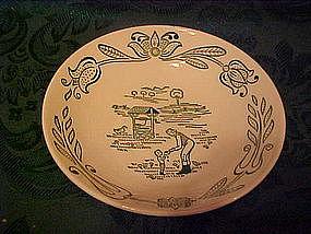 Wayne county pattern, dessert bowls by Royal China