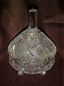 Lovely lead crystal candy dish,