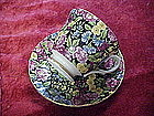 Mayfair, black chintz cup and saucer, Staffordshire