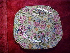 James Kent old fashined chintz collector plate, square
