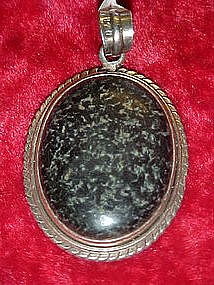 Large stone pendant set in sterling silver