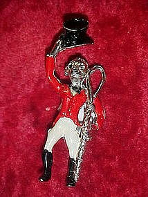 Tally Ho-  vintage Jockey pin