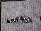 Sterling  mothers ring with 5 stones,