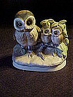 Homco owl family figurine on a branch
