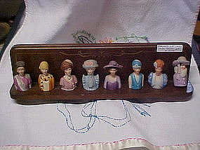 Avon Ladies of Fashion, complete  porcelain thimble set
