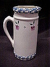Crock Shop Apple Pitcher, blue sponge border