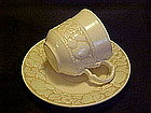 Metlox, Vernonware, antiqua cup and saucer