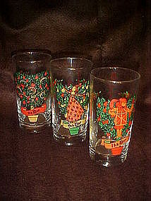 5th, 9th, and 11th days of Christmas glasses by Indiana