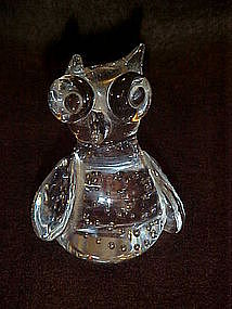 crystal clear control bubble owl paperweight