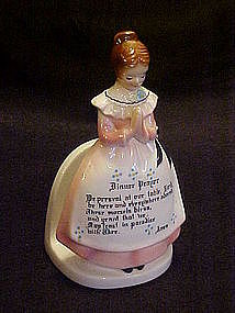 Enesco Prayer ladies napkin holder, pink dress