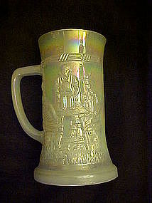 Tiara beer stein, pearlescent color, Indiana Glass