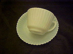 Macbeth Evans monax petalware cup and saucer
