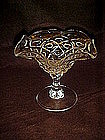 Glass comport, stemmed candy dish