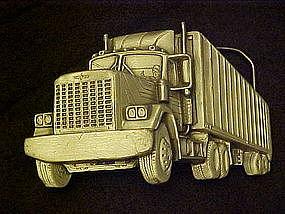 Truckers semi truck belt buckle