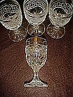 Set of 4 stemmed cordials, pres-cut pattern
