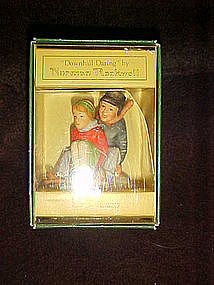 "Gorham 's ""downhill daring"" figurine by Norman Rockwell"