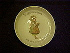 Holly Hobbie porcelain coaster, Thoughtfulness starts..