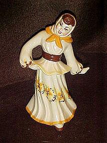 Ceramic Arts Studios Polish girl figurine, brown hair