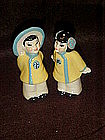 Ceramic Arts Studio Japanese boy and girl shakers