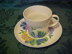 Noritake Hawaiian Holidays cup and saucer, Hula pattern