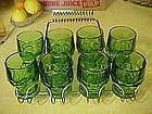 Viking  green georgian tumblers set of 8