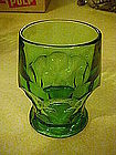 Viking georgian flat tumbler, green