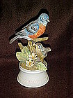 Eastern bluebird and baby bisque figurine, by Angeline