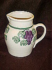 Crock Shop water jug/ pitcher, grapes and vines pattern
