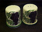 Crock Shop, large salt and pepper shakers, grapes