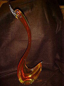 Vintage Murano art glass swan