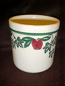 Crock Shop apples and Ivy medium cannister, no lid