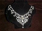 Vintage rhinestone necklace Huge and sparkley
