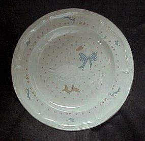 Aunt Rhody blue goose dinner plate, Tienshan