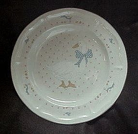 Aunt Rhody blue goose dinner plate, Brick Oven