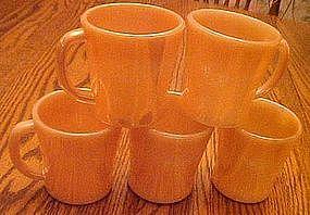 Anchor Hocking Fireking peach lustre coffee cup
