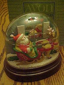 Avon Visions of Christmas lighted snow dome