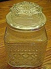 Anchor Hocking Wexford clear square apothecary jar