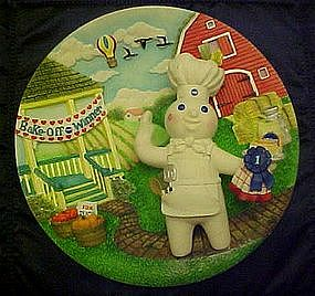 Pillsbury doughboy Kiss-me-cake collector plate