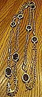 Sarah Coventry golden embers long chain necklace