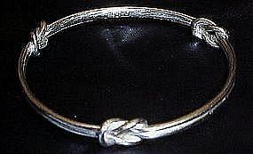 Monet silver knot bangle bracelet
