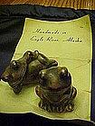 Hand made pottery frogs souvenir of Eagle River Alaska