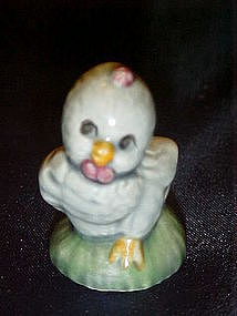 Miniature blue chick figurine