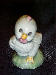 Miniature blue chick figurine
